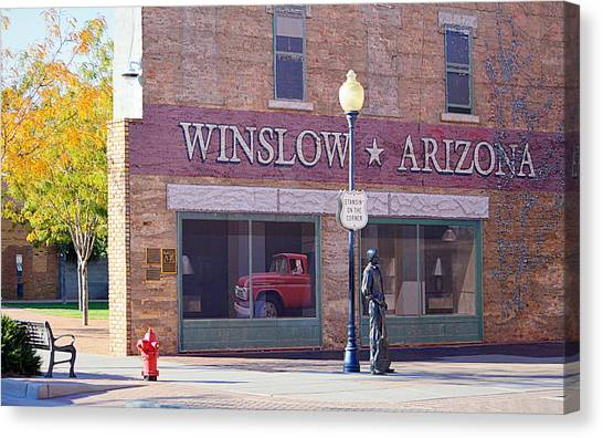 Canvas Print featuring the photograph Standing On The Corner by AJ Schibig