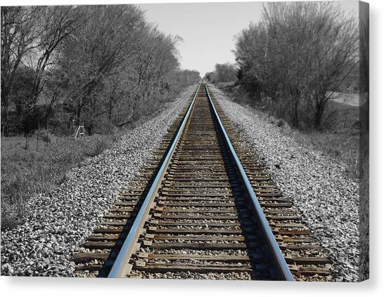 Standing On The Tracks Canvas Print