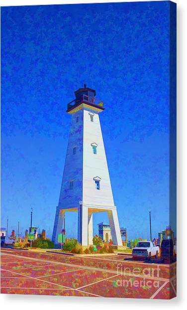 Standing Proud Lighthouse Canvas Print