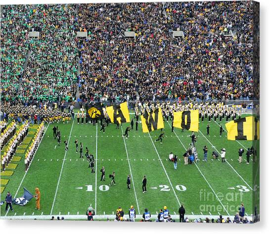 University Of Iowa Canvas Print - Standing Room Only by David Bearden