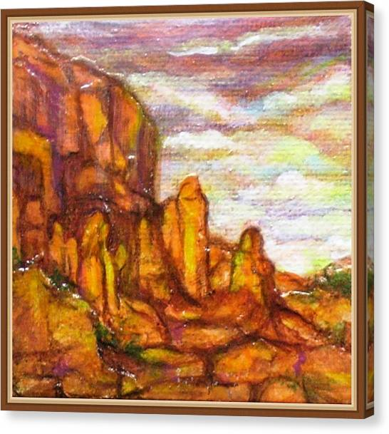Standing Stones Landscape Canvas Print by Jan Wendt