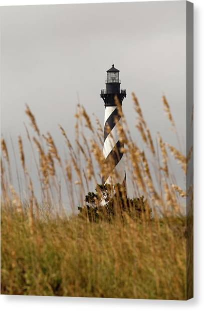 Standing Tall At Hatteras Canvas Print
