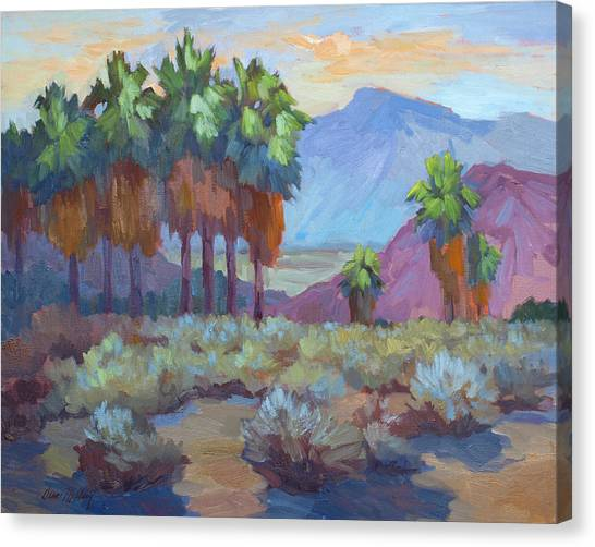 Oasis Canvas Print - Standing Tall At Thousand Palms by Diane McClary