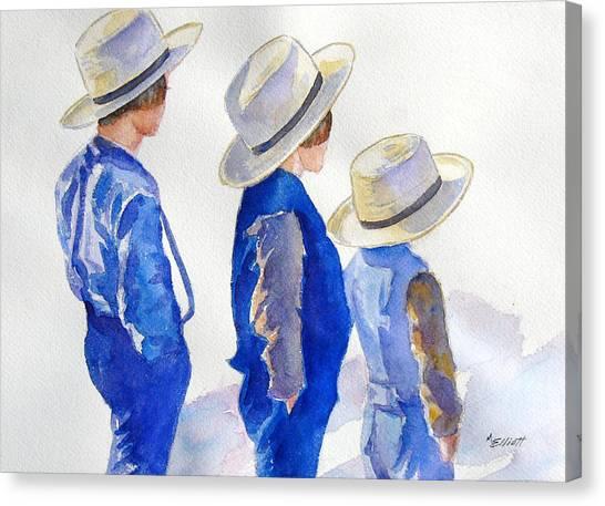 Amish Canvas Print - Standing Watch by Marsha Elliott