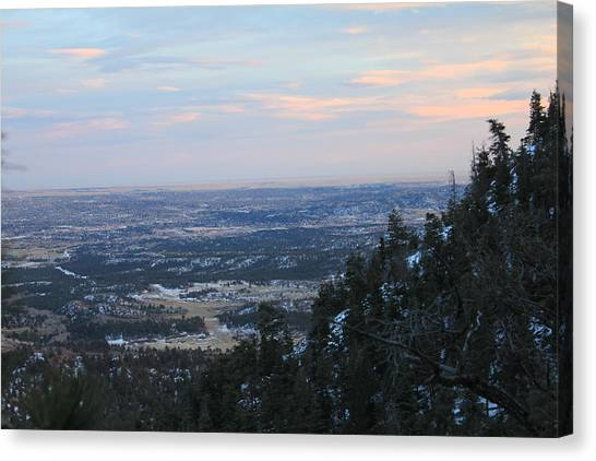 Stanley Canyon View Canvas Print