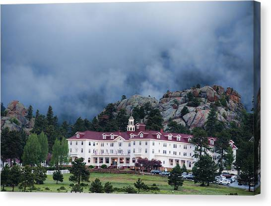 Stanley Hotel At Estes Park Canvas Print