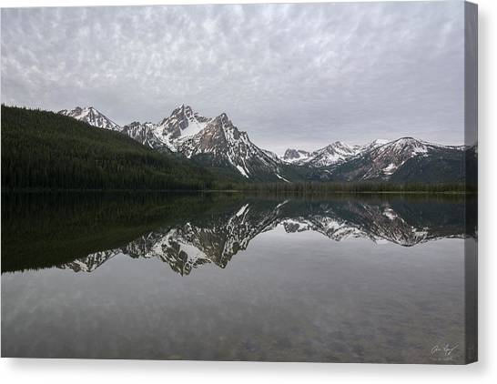 Boise National Forest Canvas Print - Stanley Lake Reflection by Aaron Spong