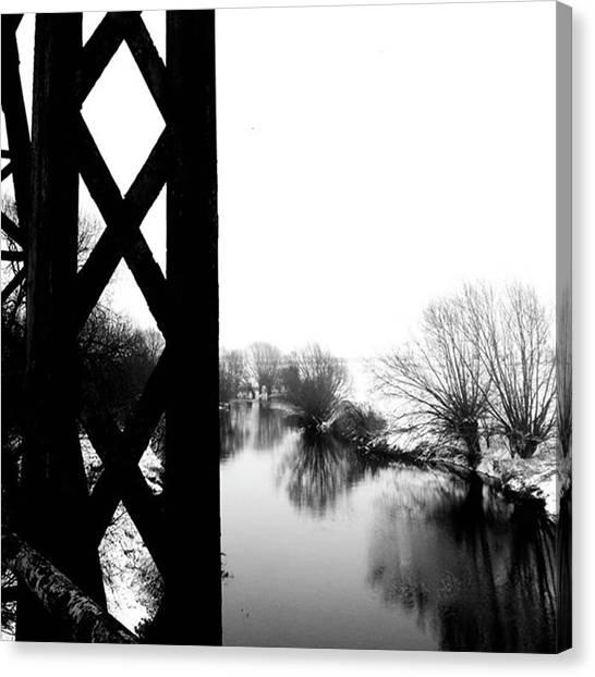 Warwickshire Canvas Print - Stannals Bridge. #riveravon by John S