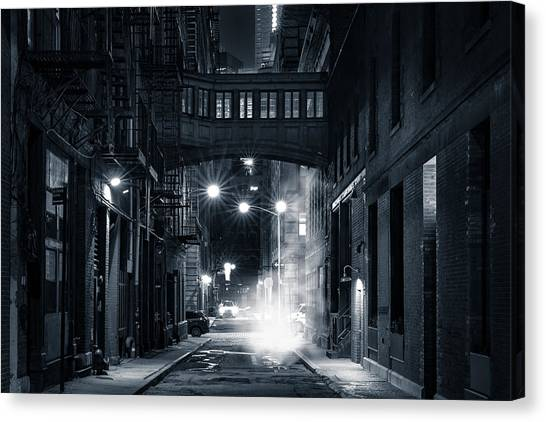 Staple Street Skybridge By Night Canvas Print