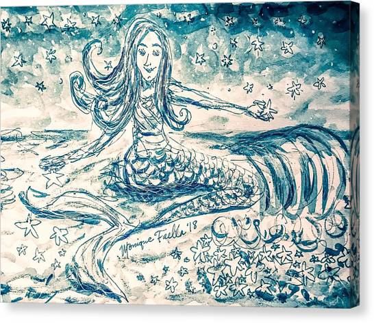 Star Bearer Mermaid Canvas Print