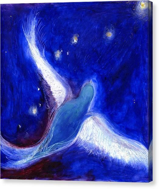 Bunting Canvas Print - Star Bird by Nancy Moniz