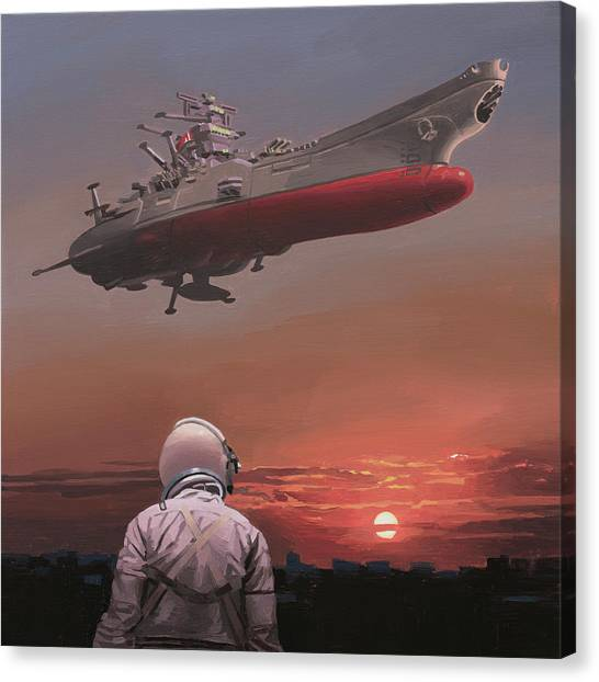 Canvas Print featuring the painting Star Blazers by Scott Listfield