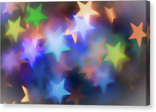 Diamond Dust Canvas Print - Star Bokeh by Martin Newman