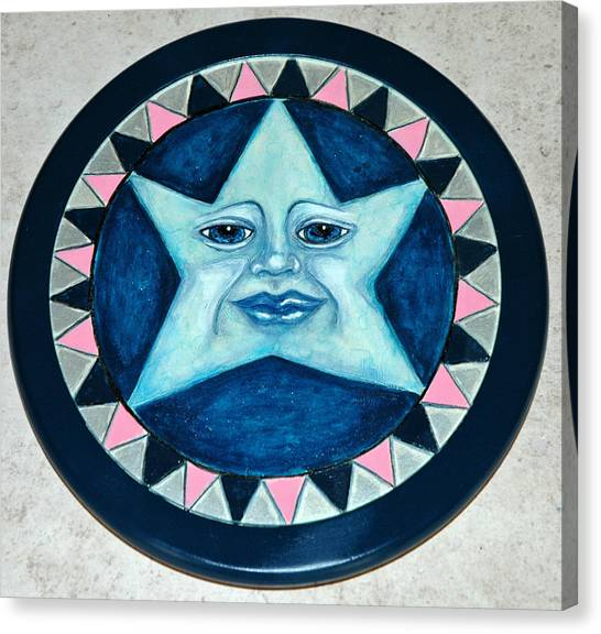 Star Face Lazy Susan Canvas Print by Mickie Boothroyd