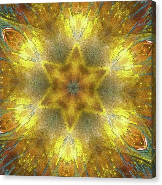 Repeat Canvas Print - Star Kaleidoscope by Wim Lanclus