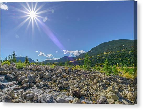 Star Over Creek Bed Rocky Mountain National Park Colorado Canvas Print