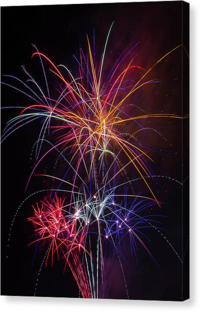 Pyrotechnics Canvas Print - Star Spangled Fireworks by Garry Gay