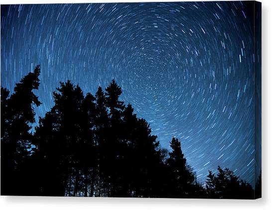 Star Trails In Acadia Canvas Print