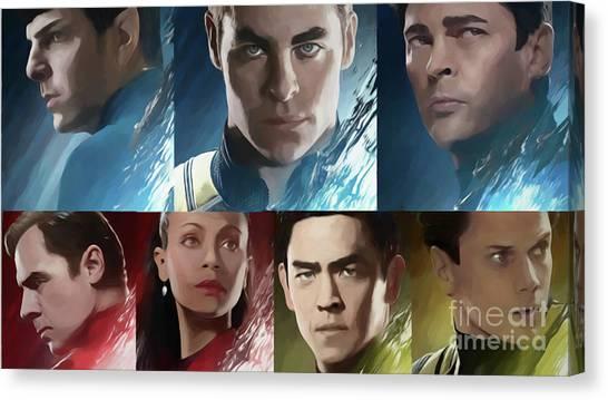 Uhura Canvas Print - Star Trek Beyond Cast by Steven Parker