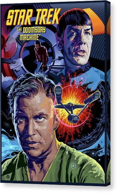 Spock Canvas Print - Star Trek Doomsday Machine by Garth Glazier