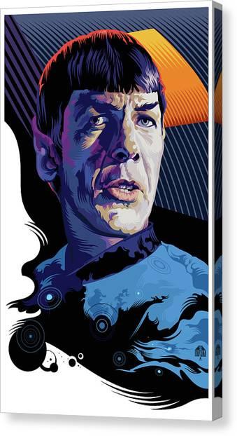 Spock Canvas Print - Star Trek Spock Pop Art Portrait by Garth Glazier