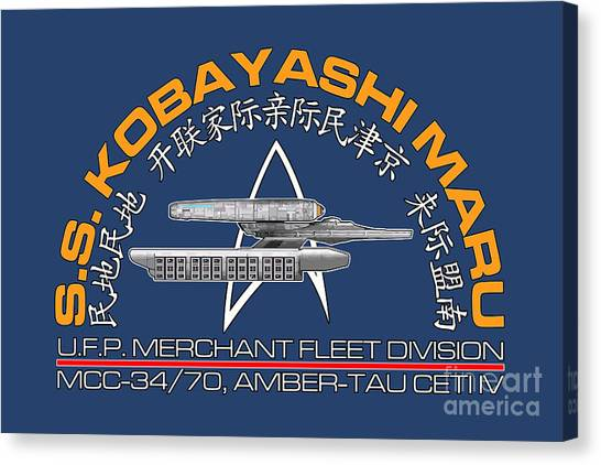 Starship Enterprise Canvas Print - Star Trek -  Kobayashi Maru Crest by Luca Oleastri