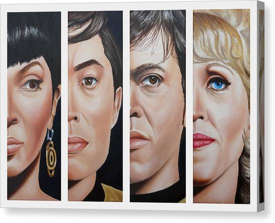 Uhura Canvas Print - Star Trek Set Two by Vic Ritchey