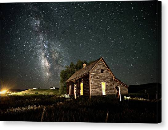 Star Valley Cabin Canvas Print