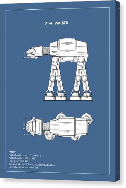 Star Wars Canvas Print - Star Wars - At-at Patent by Mark Rogan
