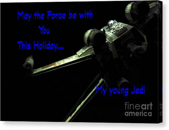 Prop Planes Canvas Print - Star Wars Birthday Card 5 by Micah May