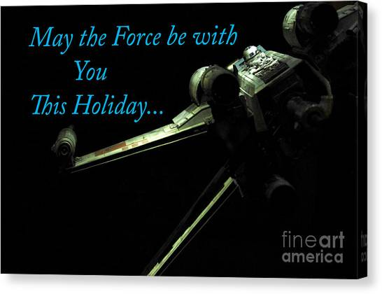 Prop Planes Canvas Print - Star Wars Birthday Card 6 by Micah May