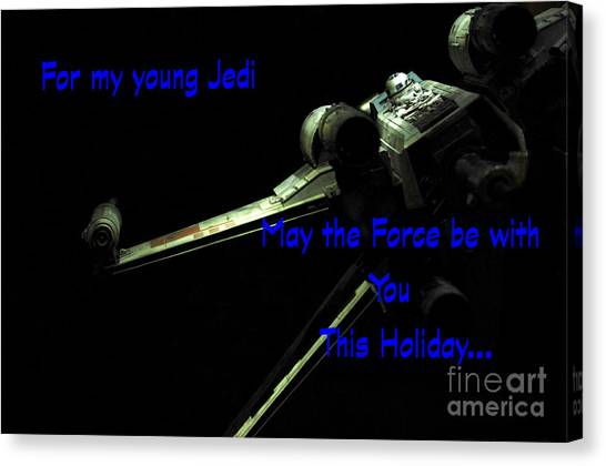 Prop Planes Canvas Print - Star Wars Birthday Card 7 by Micah May