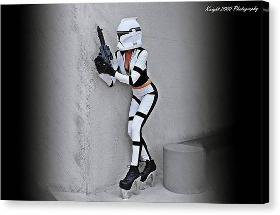Rifles Canvas Print - Star Wars By Knight 2000 Photography - Armor by Laura Michelle Corbin