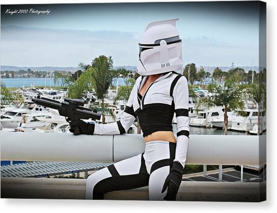 Science Fiction Canvas Print - Star Wars By Knight 2000 Photography - Clone Wars by Laura Michelle Corbin