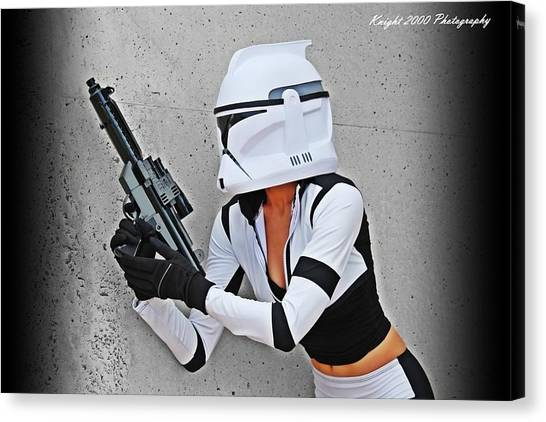 Rifles Canvas Print - Star Wars By Knight 2000 Photography - Waiting by Laura Michelle Corbin