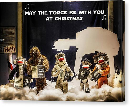 happy new year cards canvas print star wars christmas card by john haldane