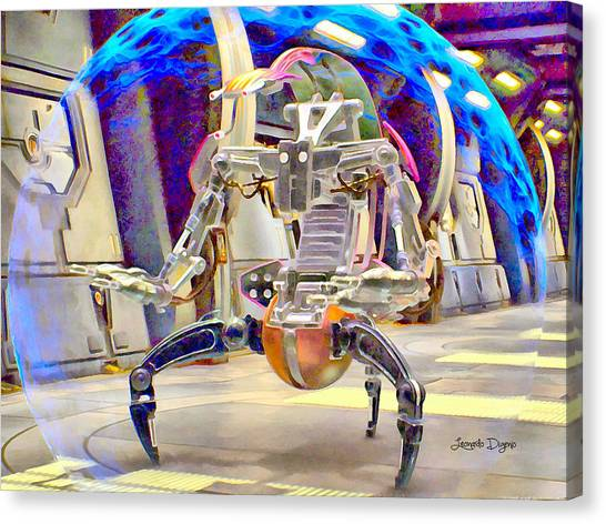 You Canvas Print - Star Wars Destroyer Droid  - Aquarell Vivid Style -  - Da by Leonardo Digenio