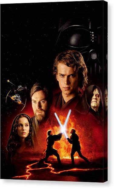 Chewbacca Canvas Print - Star Wars Episode IIi - Revenge Of The Sith 2005 by Geek N Rock