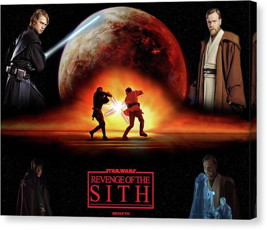 Jukebox Canvas Print - Star Wars Episode IIi Revenge Of The Sith by Maye Loeser