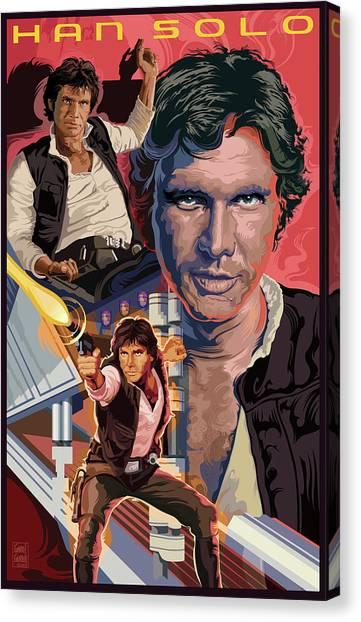 Han Solo Canvas Print - Star Wars Han Solo On Tatooine by Garth Glazier