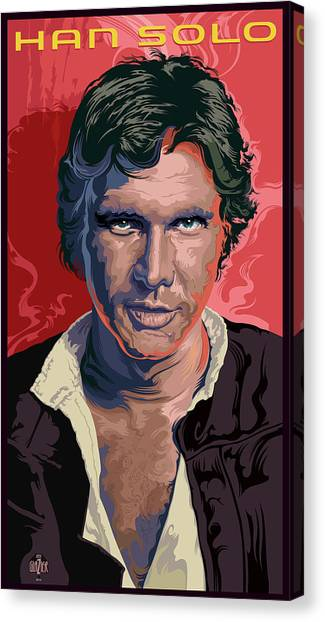 Han Solo Canvas Print - Star Wars Han Solo Portrait by Garth Glazier
