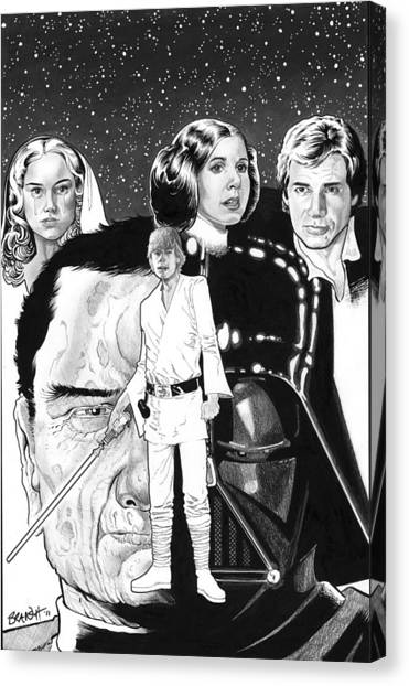 Leia Organa Canvas Print - Star Wars Past And Present by Ken Branch