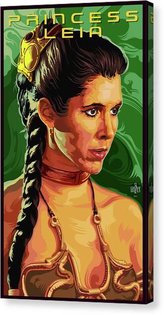 Leia Organa Canvas Print - Star Wars Princess Leia Portrait by Garth Glazier