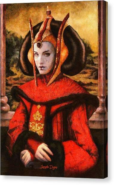 Jabba The Hutt Canvas Print - Star Wars Queen Amidala Classical by Leonardo Digenio