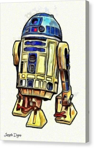 Star Wars Canvas Print - Star Wars R2d2 Droid - Da by Leonardo Digenio