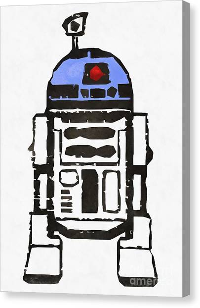 Droid Canvas Print - Star Wars R2d2 Droid Robot by Edward Fielding