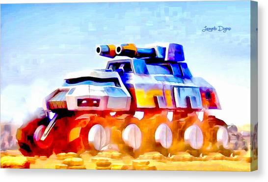 With Canvas Print - Star Wars Rebel Army Armor Vehicle  - Aquarell Vivid Style -  - Da by Leonardo Digenio