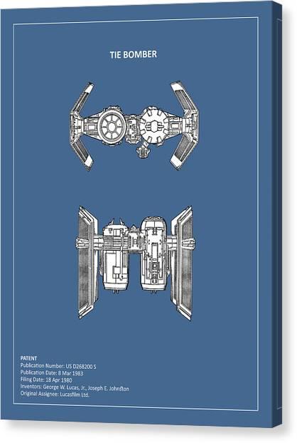 Star Wars Canvas Print - Star Wars - Spaceship Patent by Mark Rogan