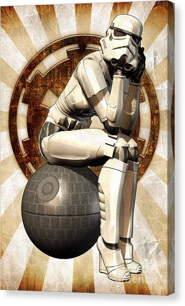 Leia Organa Canvas Print - Star Wars - Stormtrooper Girl by Luca Oleastri