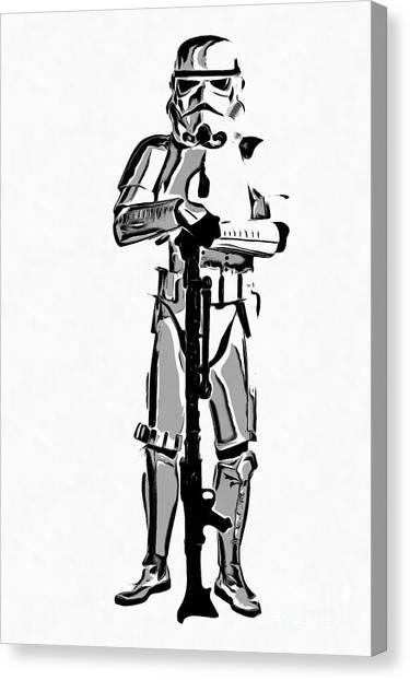 Stormtrooper Canvas Print - Star Wars Stormtrooper Graphic Novel Fan Art Drawing by Edward Fielding